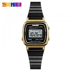 Đồng hồ Điện Tử Nữ Skmei Dây Kim Loại Nhỏ Xinh-1252 (Black Gold)