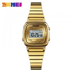 Đồng hồ Điện Tử Nữ Skmei Dây Kim Loại Nhỏ Xinh - 1252 (Gold)