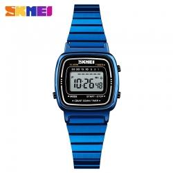 Đồng hồ Điện Tử Nữ Skmei Kim Loại Nhỏ Nhắn -1252 (Crystal Blue)