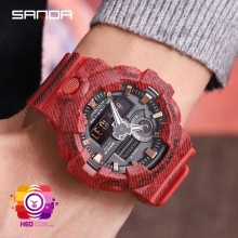 Đồng hồ Thể Thao SANDA Chính Hãng Chống Nước #700 (Red)