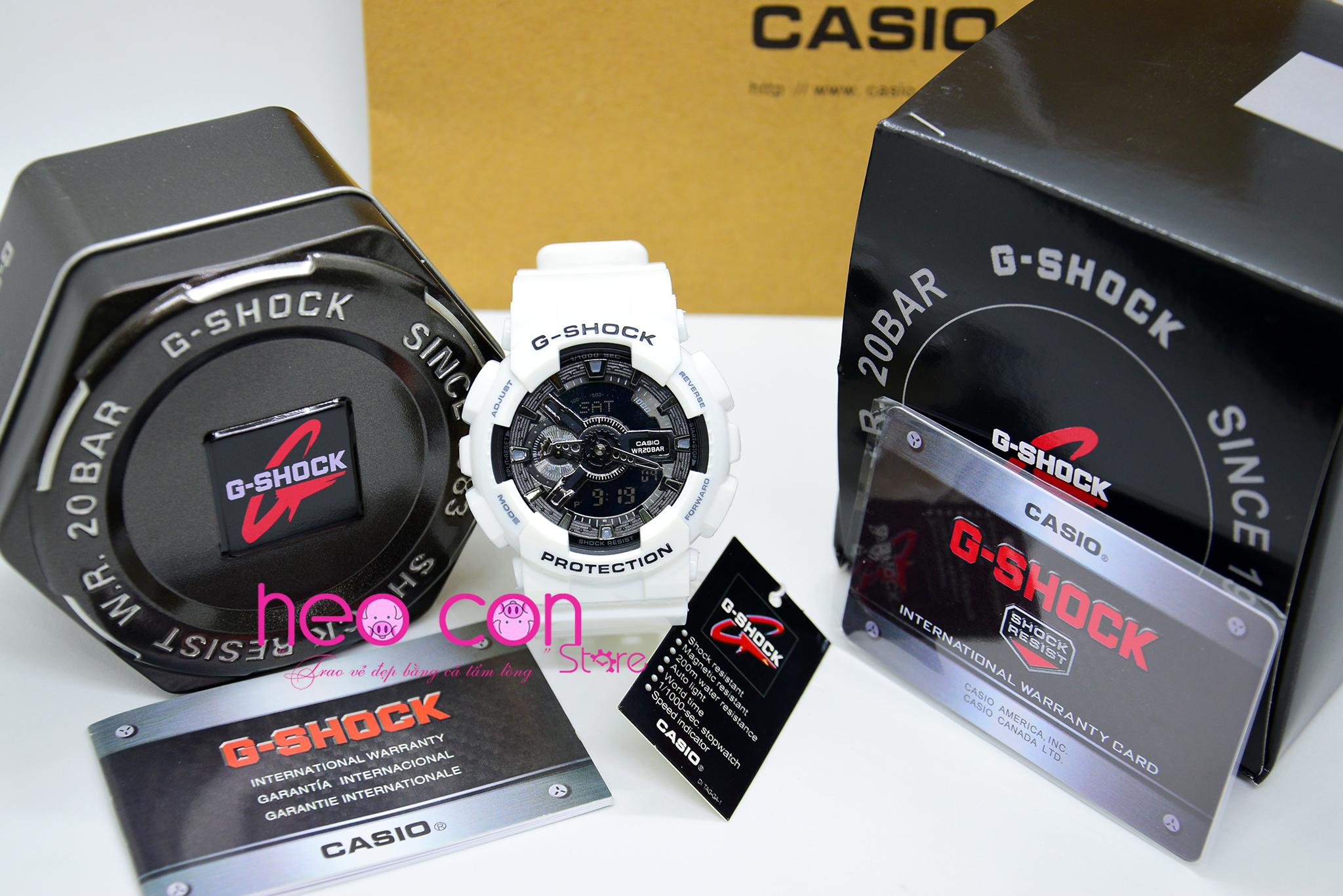 Ng H G Shock Ga 110gw 7a White Black Fake Replica Casio