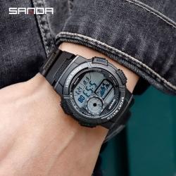 Đồng hồ Điện Tử SANDA Classic Kiểu Dáng Tròn Chống Nước - 385