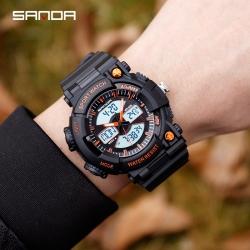 Đồng hồ Thể Thao Nam SANDA Kim - Số Kết Hợp Nhiệt Kế - 766