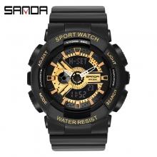 Đồng hồ Thể Thao Nữ SANDA Chống Nước - #292 (Đen Gold)