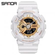 Đồng hồ Thể Thao SANDA Chính Hãng - #299 (Trắng Gold)