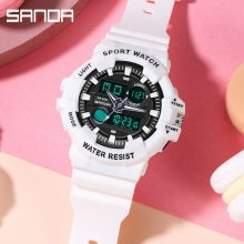 Đồng hồ Nam Nữ SANDA Thể Thao Kim Số Kết Hợp - 3037 Series