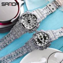 Cặp đồng hồ SANDA Thể Thao Chính Hãng Chống Nước - 11 (Slash)