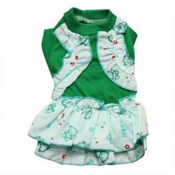 ABC – Đầm Hawaii màu xanh