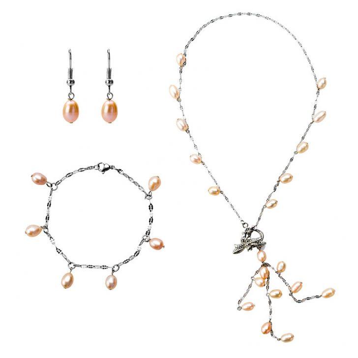 Madam Dzi MDVC4 - Bộ vòng cổ, bông tai, vòng tay